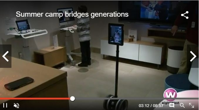 Summer Camp Bridges Generations Video and WoodTV8 News Coverage